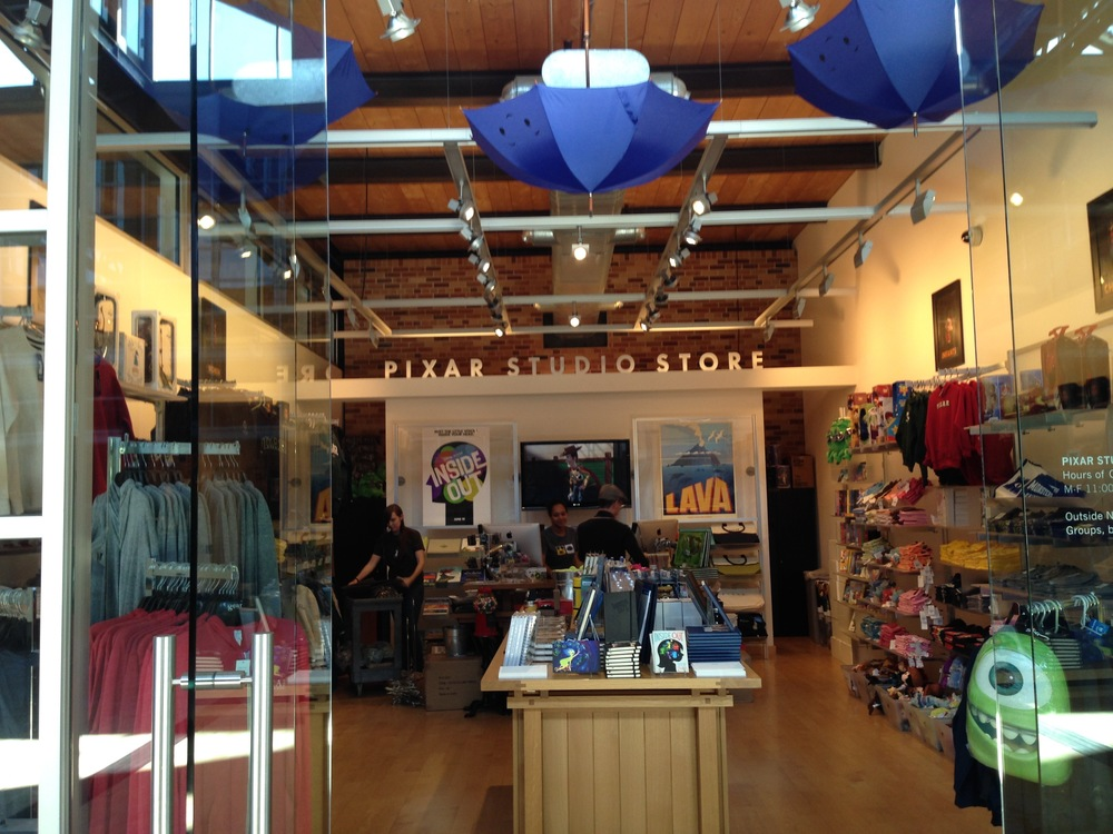 Pixar's Studio Store is where employees and guests can purchase exclusive merchandise from Pixar's film. Many of the products feature art from Pixar's talented team of creators. Photo by Derrick Clements.