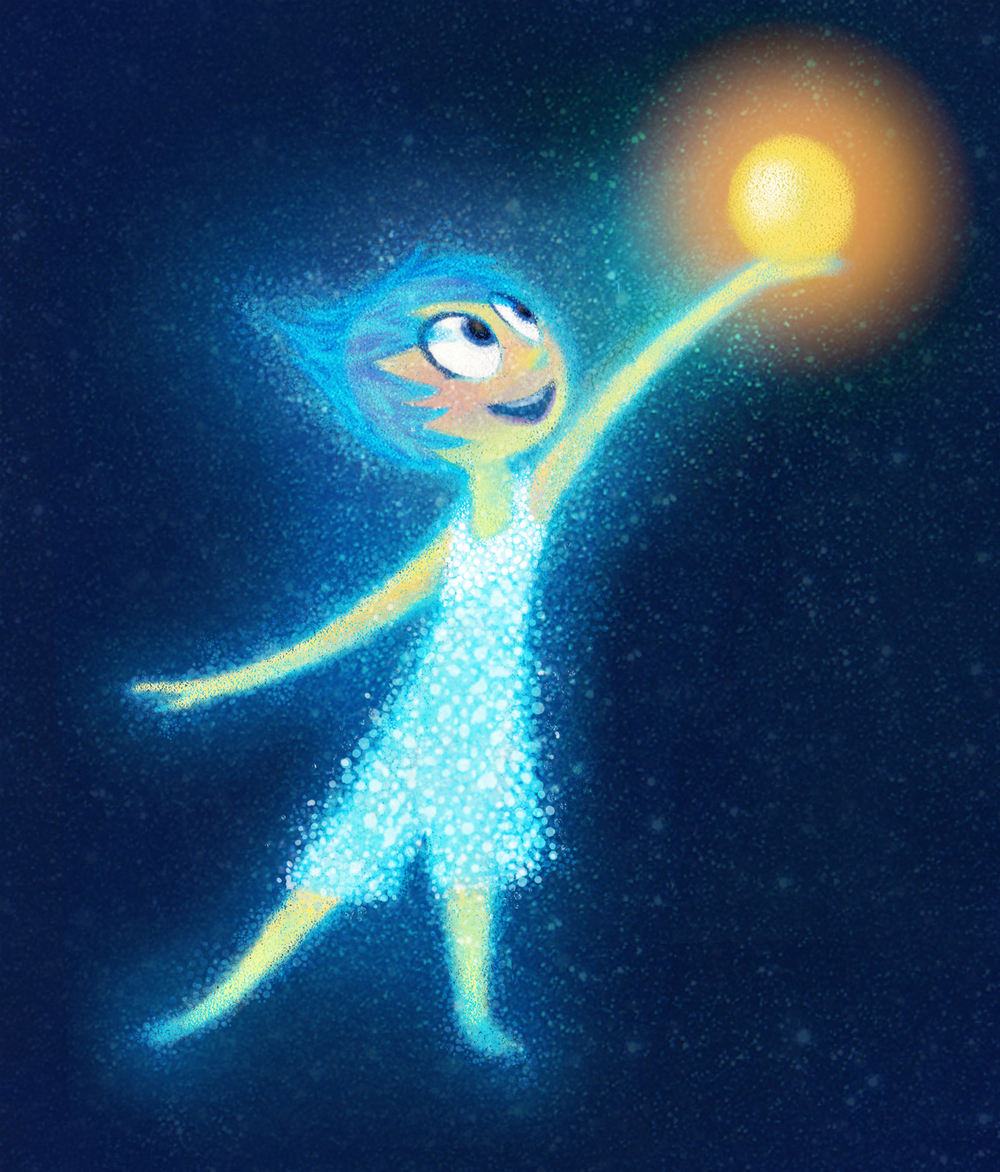 INSIDE OUT – Concept Art featuring JOY by Albert Lozano (Character Art Director). ©2015 Disney•Pixar. All Rights Reserved.
