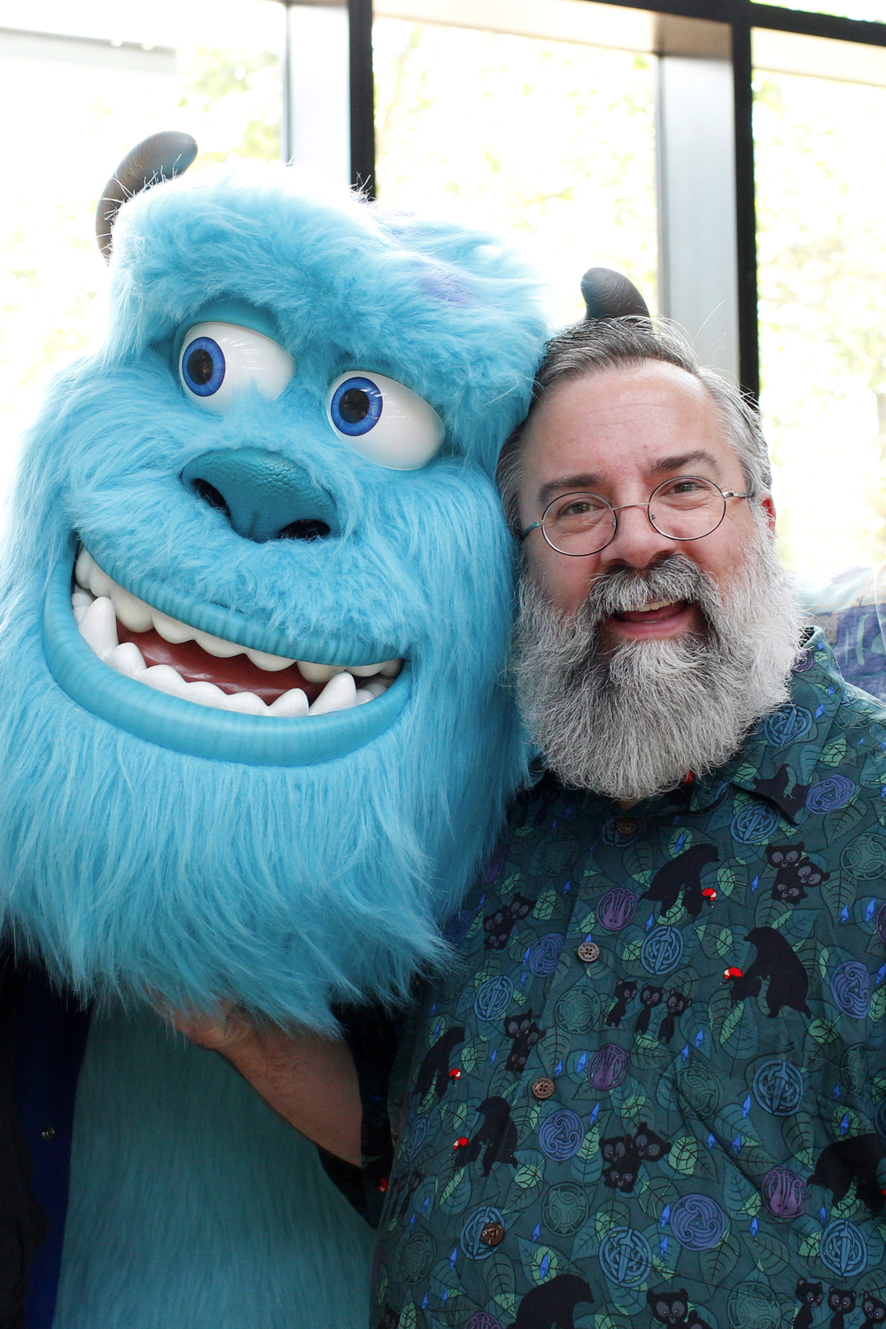 Jeff Pidgeon (pictured), Jerome Ranft, and Tony Apodaca all have grown beards and wanted it captured, as seen on May 23, 2014 at Pixar Animation Studios in Emeryville, Calif. (Photo by Deborah Coleman / Pixar)