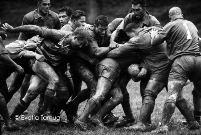 Eden Rugby scrum