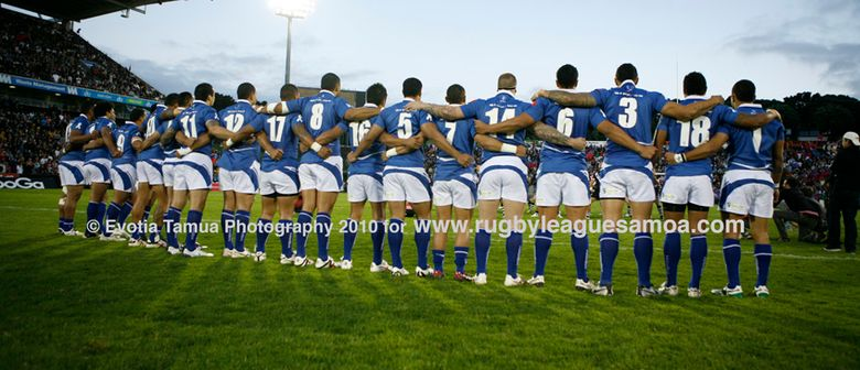 Samoan's national rugby league team is called Toa Samoa pictured in the opening minutes of the 2010 Four Nations test held at Mt Smart Stadium, Auckland.