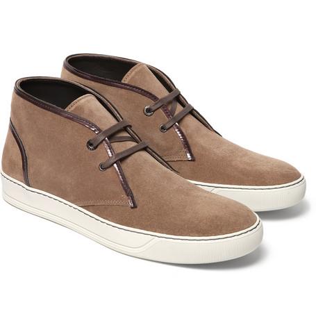 Lanvin Suede Desert Boots