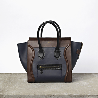 W Blue-Brown Luggage Tote