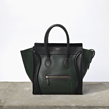 W Green-Black Luggage Tote