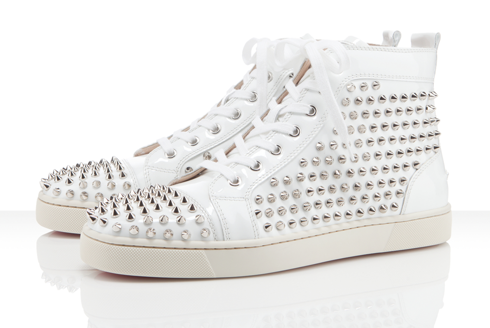 White Patent Louis Spike Sneakers
