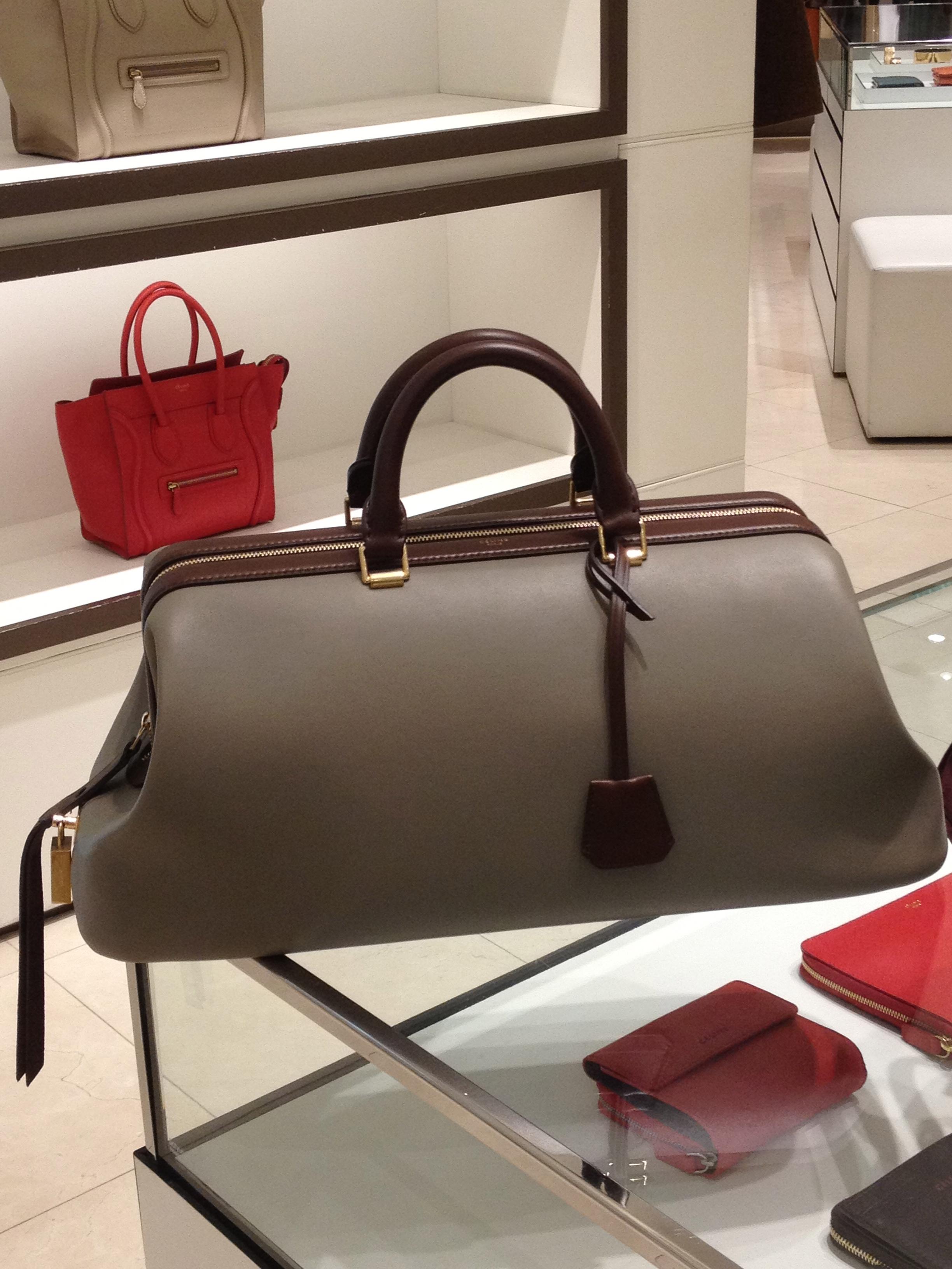 celine leather doctor bag