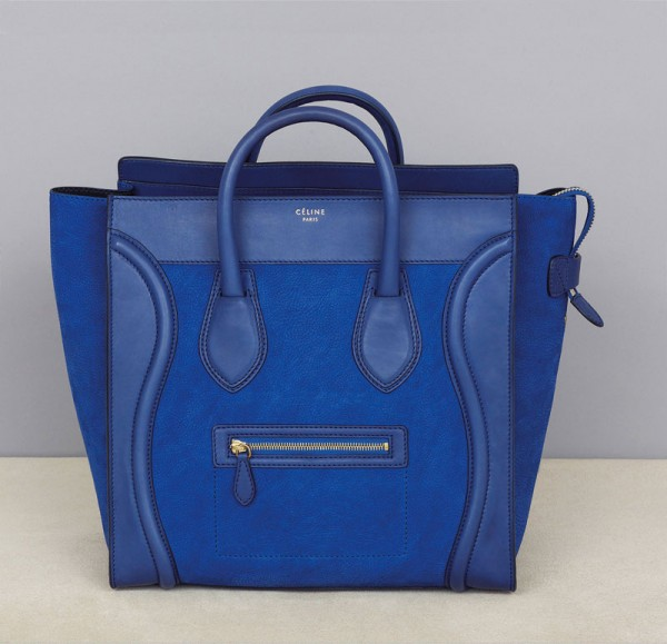 Celine Blue Luggage Tote