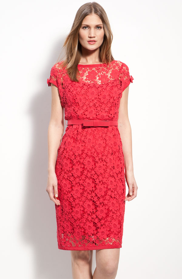 Nanette Lepore Red Lace Dress
