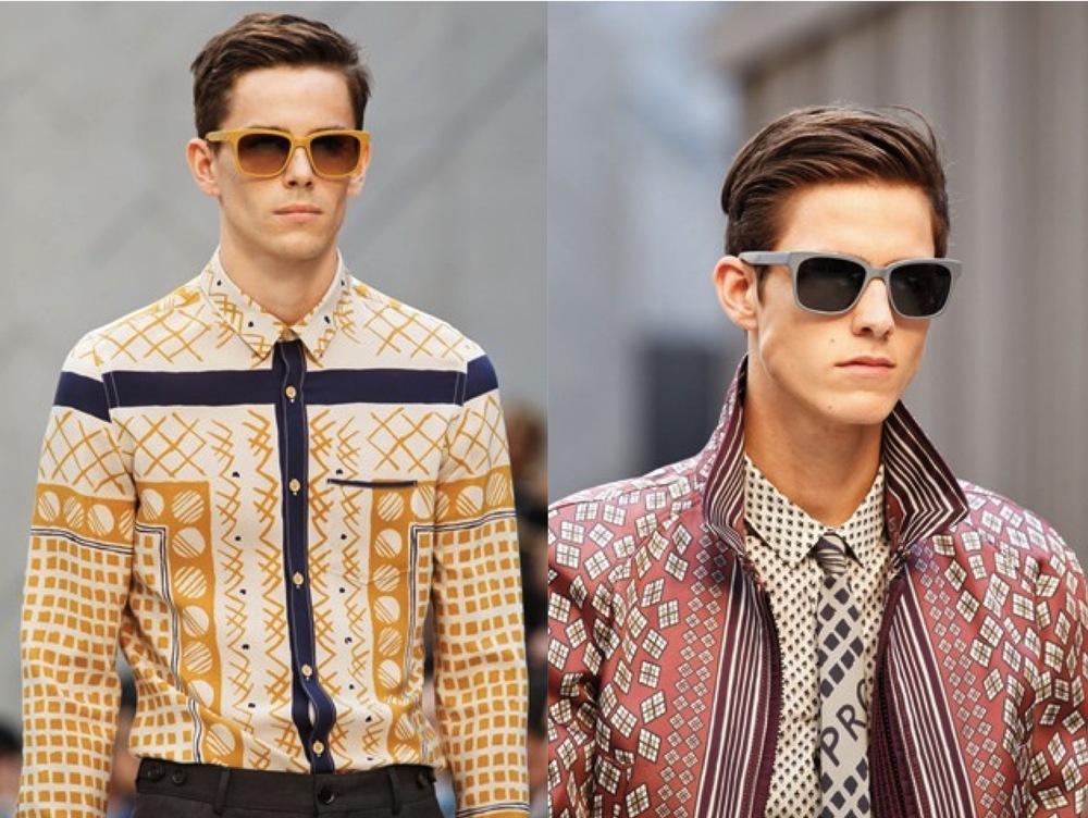 Burberry Prorsum SS 2013 Menswear Patterns