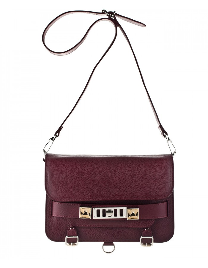 PS11 Classic Shoulder Bag in Burgundy