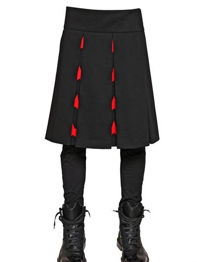 Givenchy Garbardine Pleated Skirt