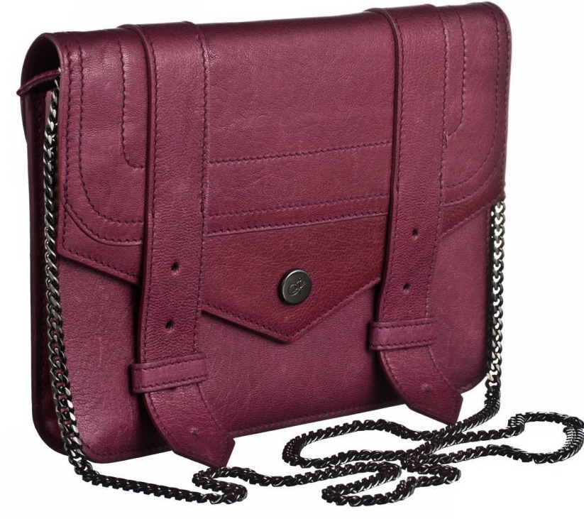Raspberry Proenza Schouler Wallet on Chain