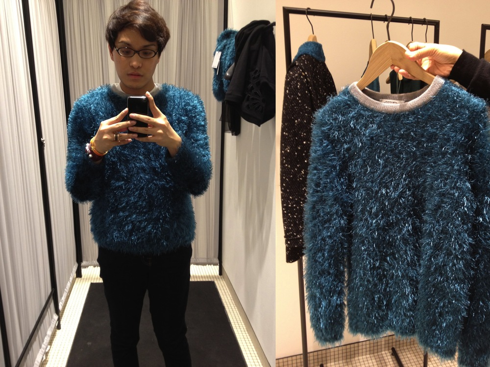 Carven Fall-Winter 2012 Round Neck Faux Fur Sweater