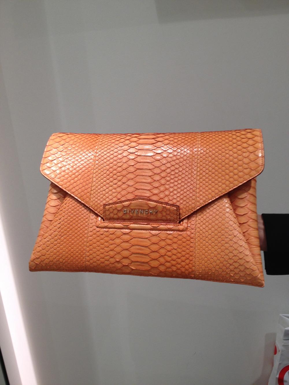 Givenchy Python Antigona Clutch