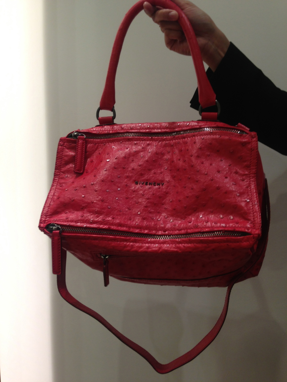 Givenchy Ostrich Skin Pandora Bag