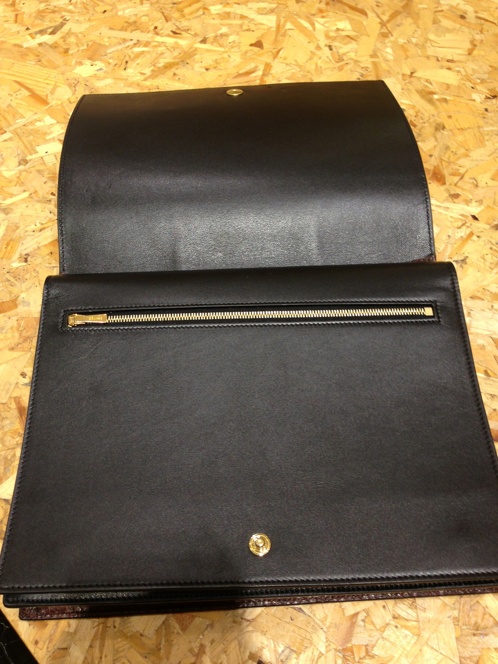 Celine Double Flap Clutch