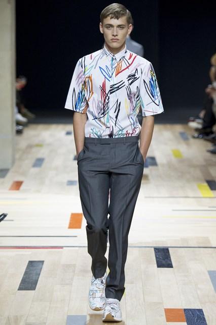 Dior Homme All-Over Print Shirt Menswear SS2015 Runway 2.jpg