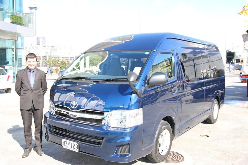Driver Stuart & 11 Passenger Minivan