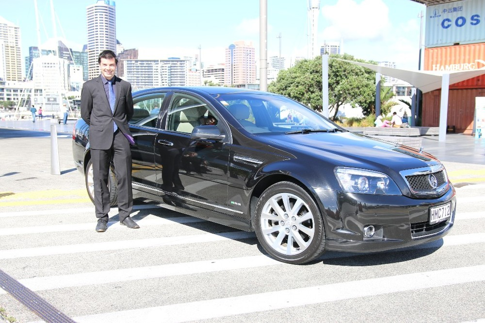 Driver Stu with Luxury Sedan