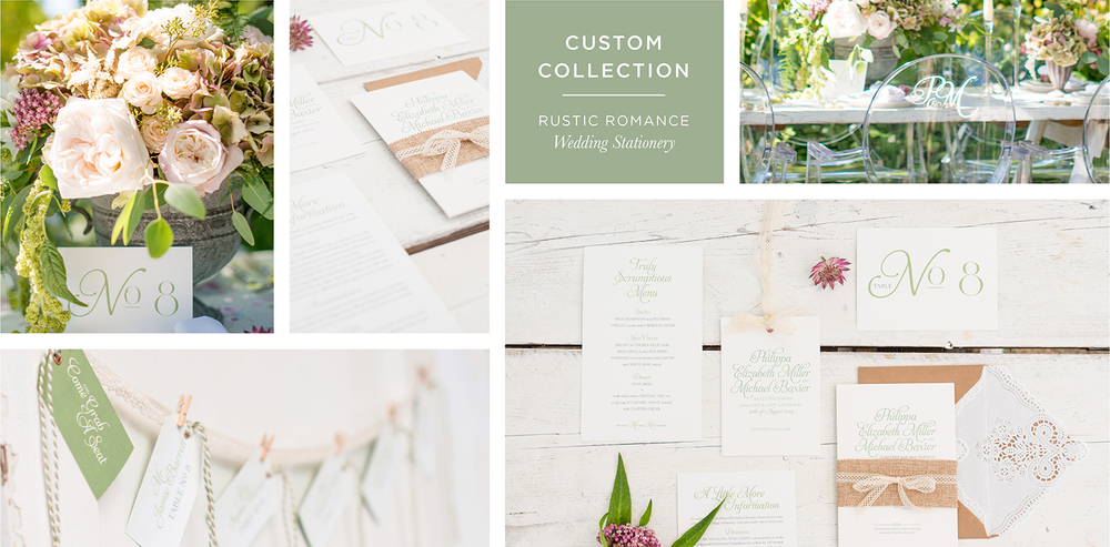 Rustic Romance Wedding Stationery