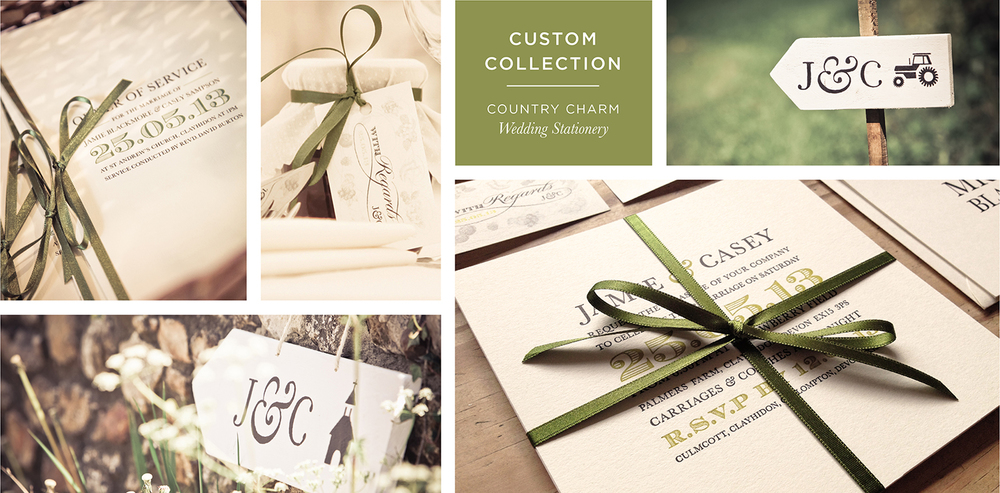 Country Bespoke Wedding Stationery