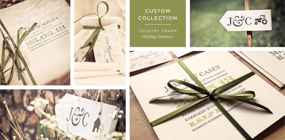 Country Bespoke Wedding Stationery