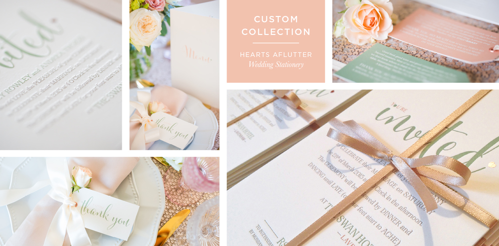 Hearts Aflutter Wedding Stationery