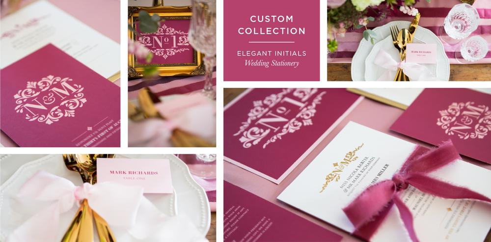 Elegant Initials Wedding Stationery