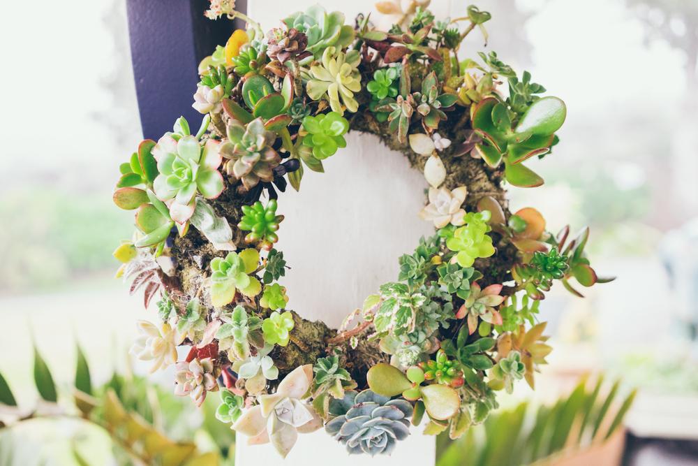 Wreath at the front door.