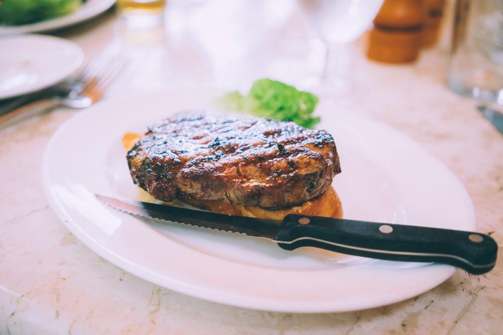 NY steak sandwich.