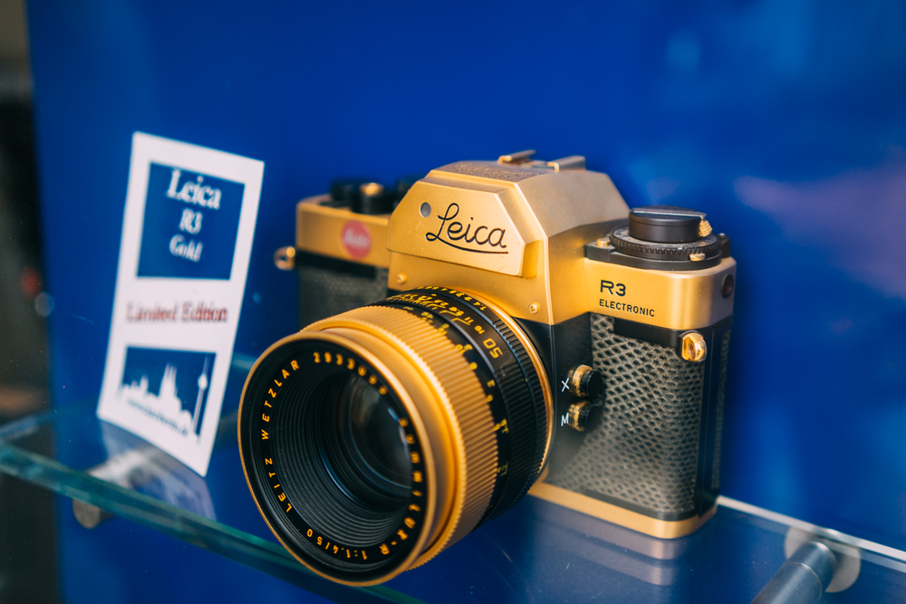 That gold Leica. Too bad its an R