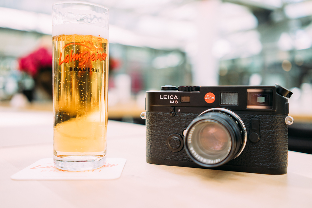 My Leica and a beer.