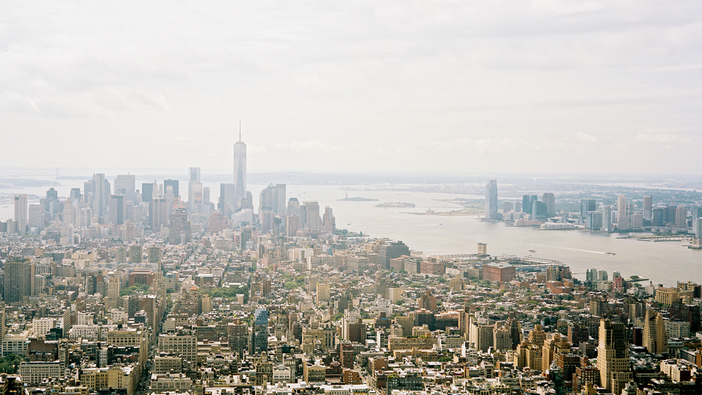 NYC Skyline from the Empire State. Portra 160  Fuji GW690III