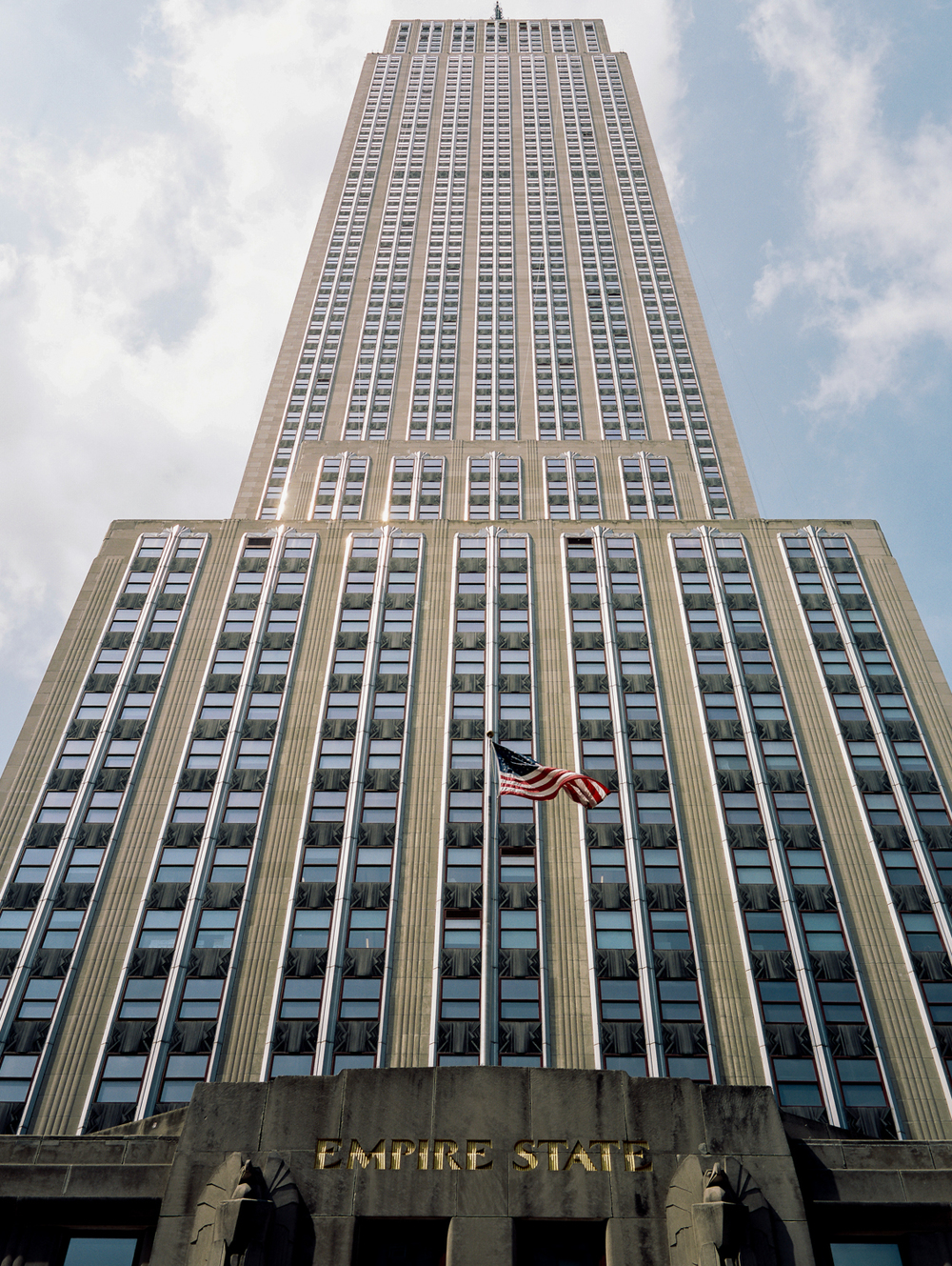 Empire State from the street. Portra 160 Fuji GW690III
