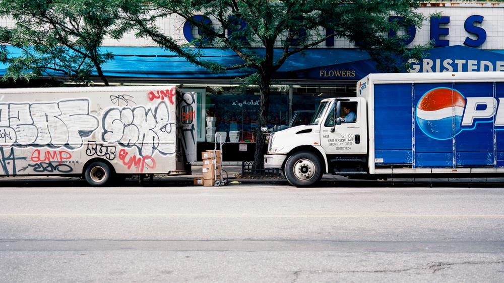 Fuelling NYC. Ektar 100 Fuji GW690III.