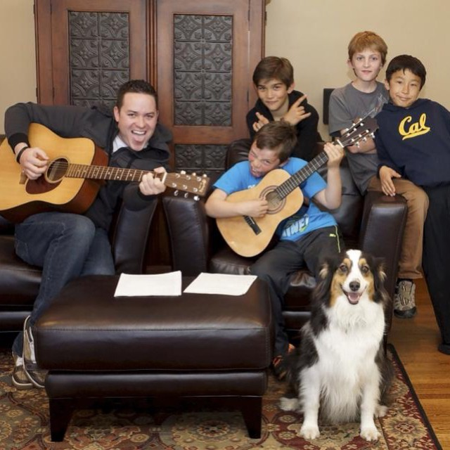 Tommy with his student Nate rockin out at their first In-Home Mini Concert in San Francisco! Our In-Home Mini Concerts are special, intimate concerts we throw on in our students homes. These are an absolute blast and gives you the perfect excuse to invite friends and family over for an evening of rock n roll fun :)