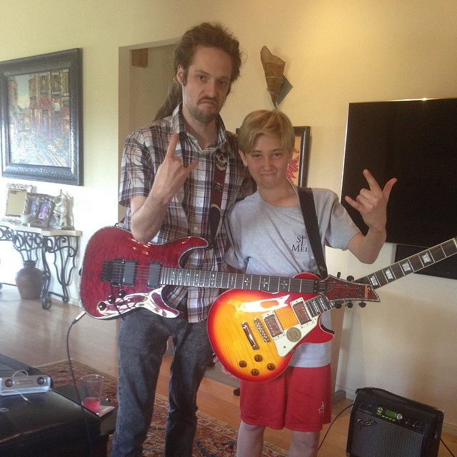Riley with his super dedicated Rockstar student Scott. Scott is getting so good, be on the lookout Los Angeles! Sign up for a trial lesson by visiting the link in our bio.