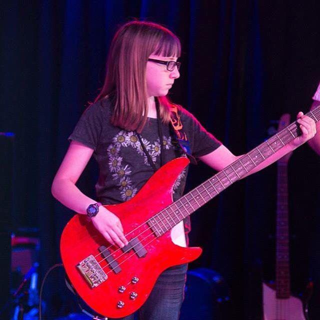 Malloy rockin da bass geetar! #rockhomelessons