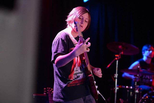 Our student Joe performed live at our RockShow and his confidence went through the roof! #rockhomelessons