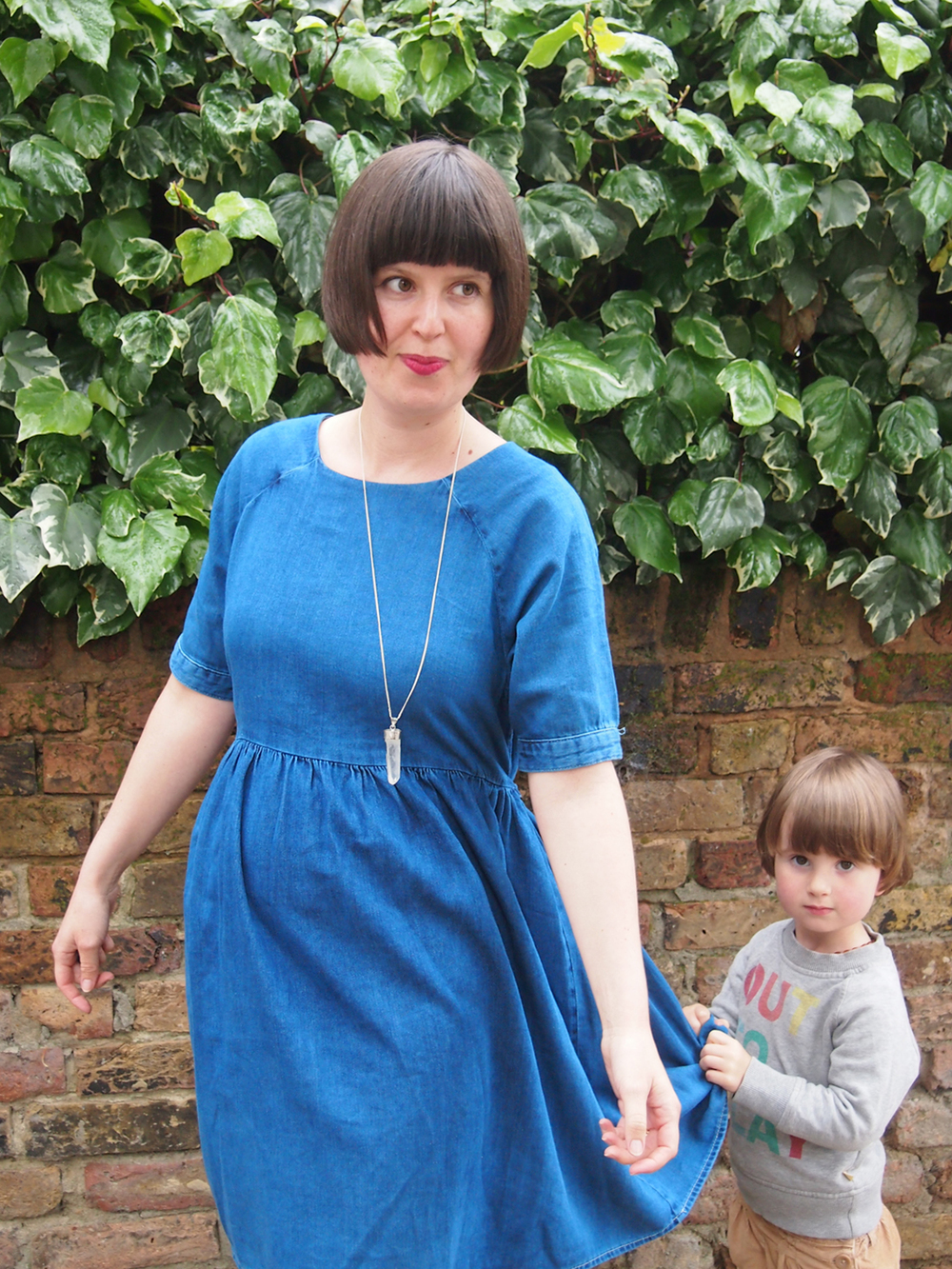 My first Maternity Wear buy this time round - Maternity Smock Dress in Denim.