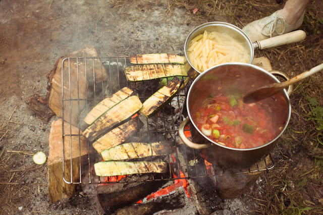 Delicious healthy veggie camping food