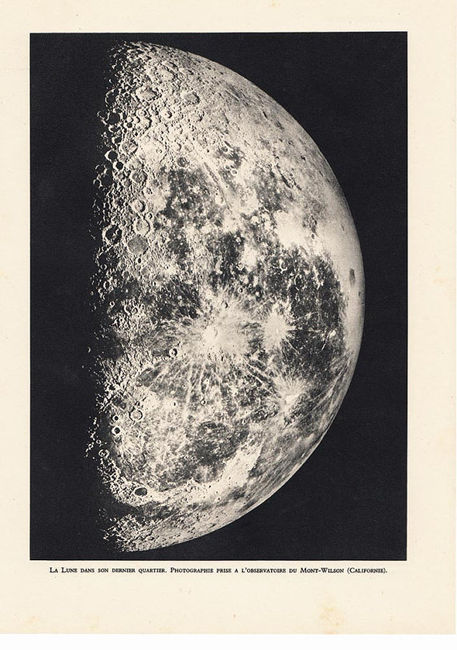 Moon Last QuarterTelescope Photo Print 1940s by carambas...