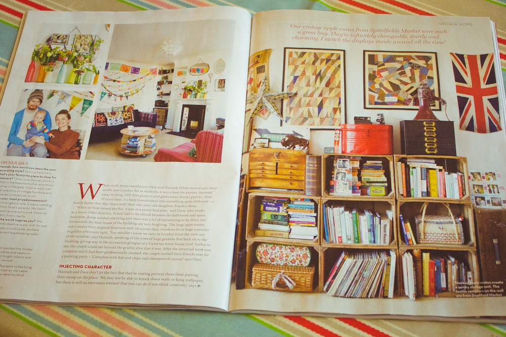 Hannah's house was featured in the November issue of Homes & Antiques