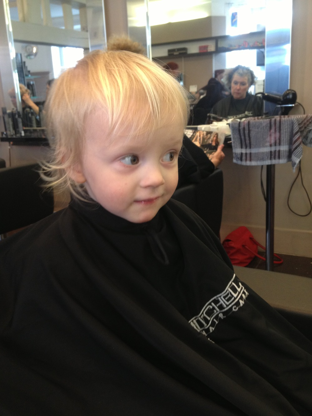 Her first hair cut!