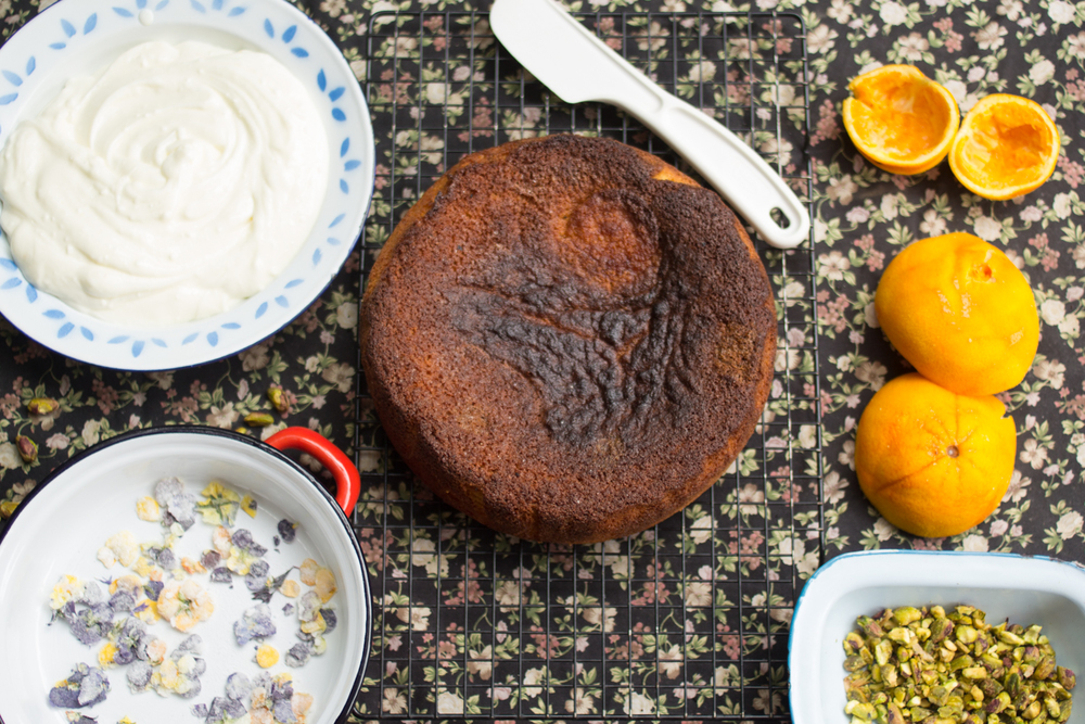 Orange, almond and polenta cake.