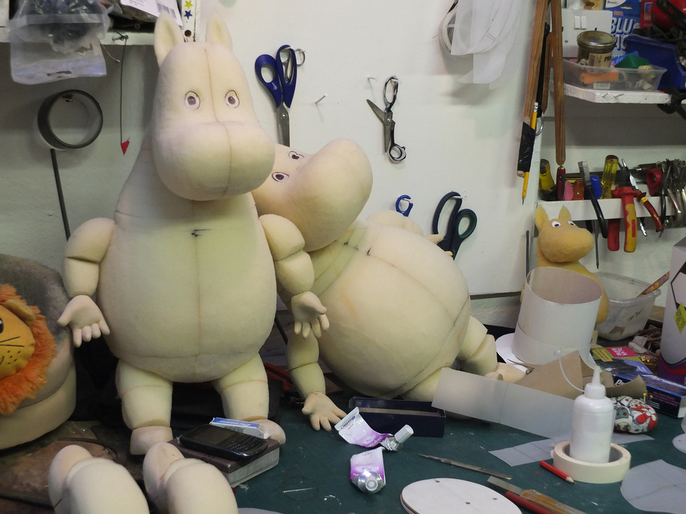 The puppets in the making!!!! Copyright Little Angel Theatre
