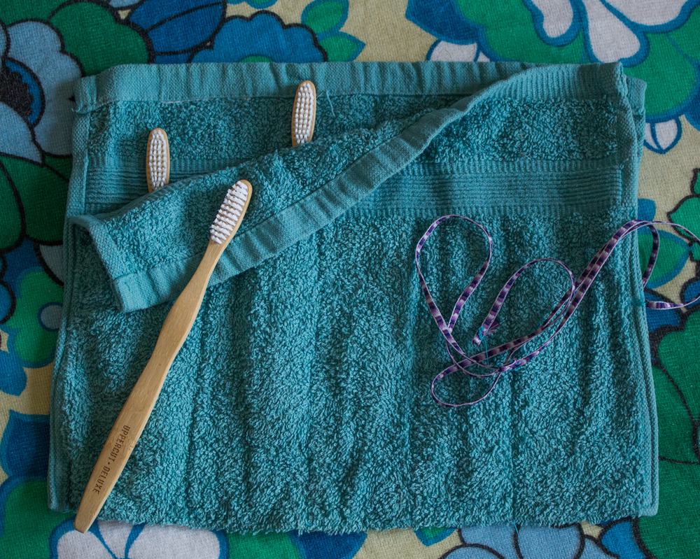 DIY Toothbrush pouch