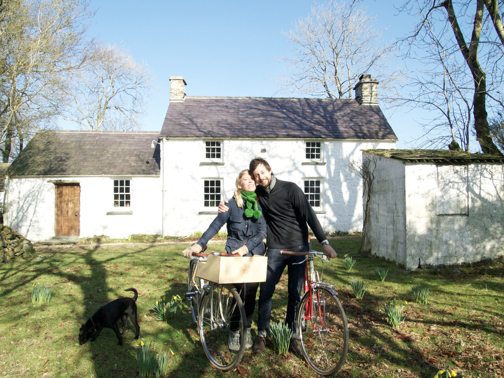 Nadine & Toby with their engagement bikes shortly after he proposed!