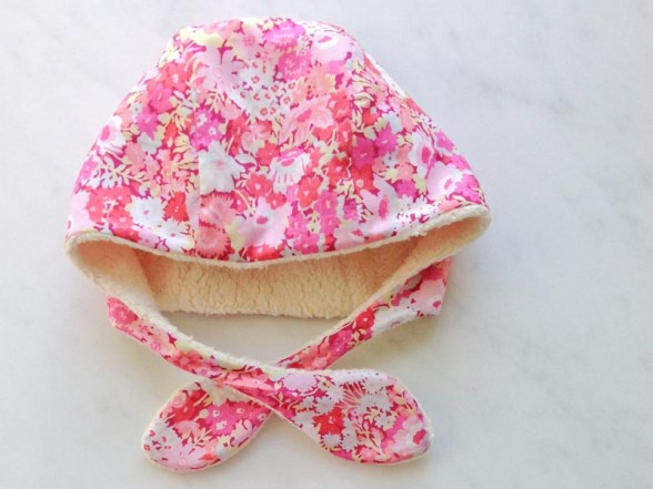 Liberty Print Winter Bonnet from Purb Bee