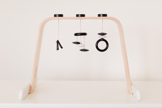 Hacked Ikea Wooden Play Gym from Kaley Ann